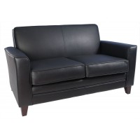 Newport Leather Reception Office Sofa