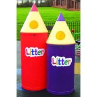 School Pencil Outdoor Litter Bins