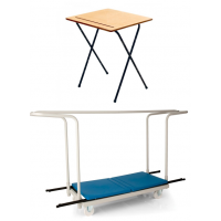 40 Folding Exam Desk and Trolley Package