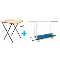 40 Premium Folding Exam Desk Package