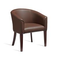 ARIA Brown Faux Leather Tub Chair
