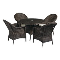 Clover Weave Dining Table and Chair Set