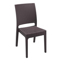 Cocoa Wicker Weave Chair