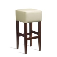Coffee Cream Faux Leather Barstool
