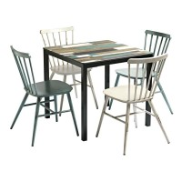 Extrema Driftwood Dining Table and Chair Set