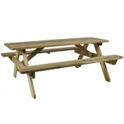Hereford 8 Seat Wooden Picnic Bench