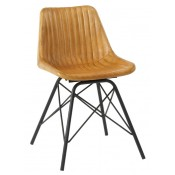 Marco Light Tan Leather Side Chair