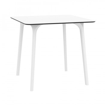 Maya White Contemporary Dining Table