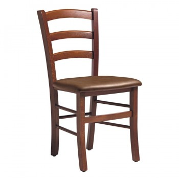 Rosso Walnut Upholstered Side Chair