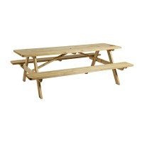 Spruce Wooden 12 Seat Picnic Bench