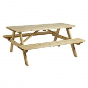 Spruce Wooden 8 Seat Picnic Bench